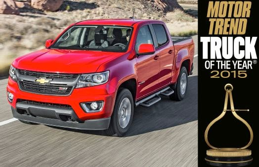 Chevrolet Colorado Named Truck of the Year by MOTOR TREND