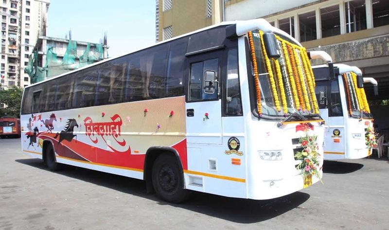 Good News Mumbai Konkan Shivshahi Luxury St Bus Service Started Konkankatta In