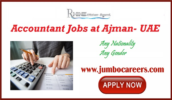 Urgent Ajman jobs with salary, Accountant jobs in Gulf countries,