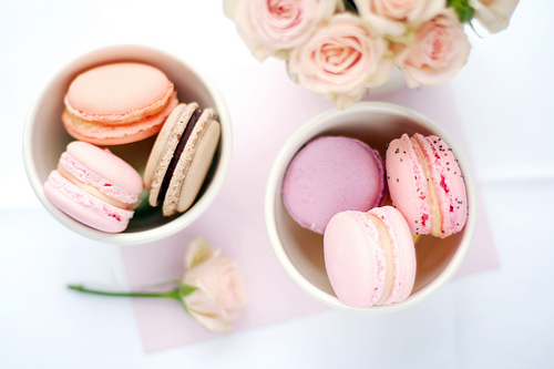 pink and peach macarons - photo #1