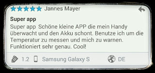android temperatur warnung