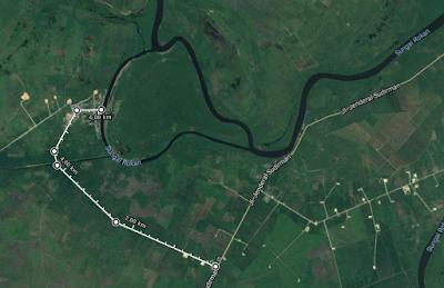 Peta Lokasi Pulau Tilan Andalan Wisata Rohil