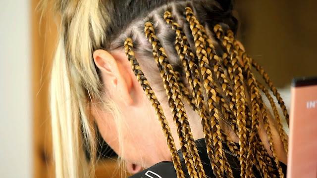 Box braids en pelo caucásico