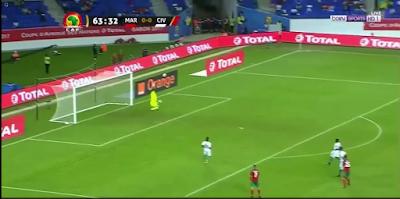 اهداف مباراة المغرب وساحل العاج 1-0 بطولة الامم الافريقية