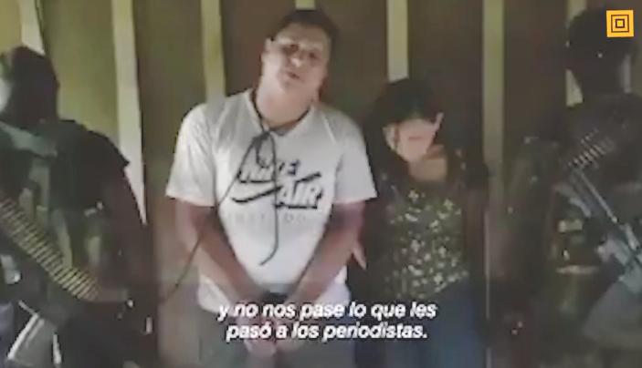 La pareja, cuya identidad se mantiene en reserva, secuestrada por el grupo del