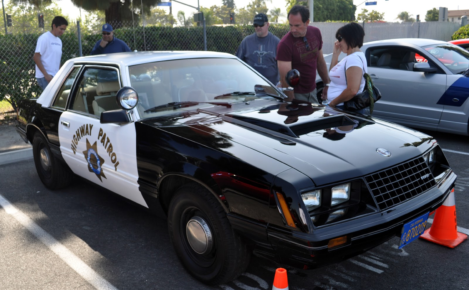 earlyt 1980's Mustang cop car from California Highway Patrol