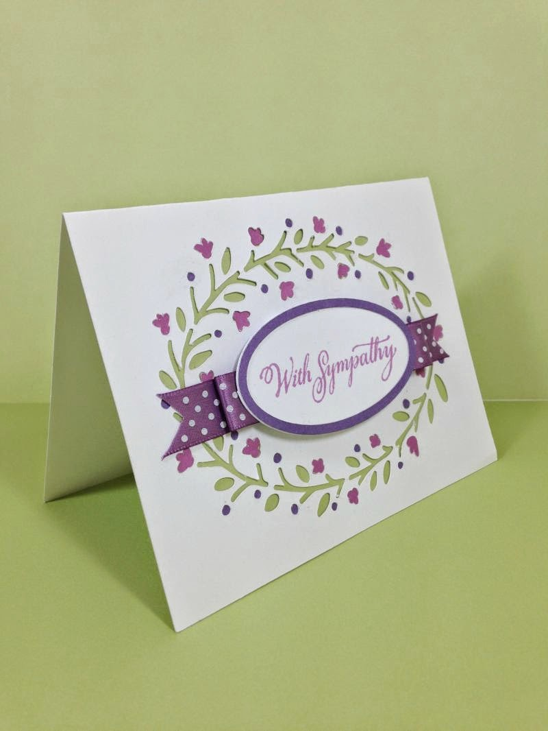 Simple, but elegant Sympathy card sideview
