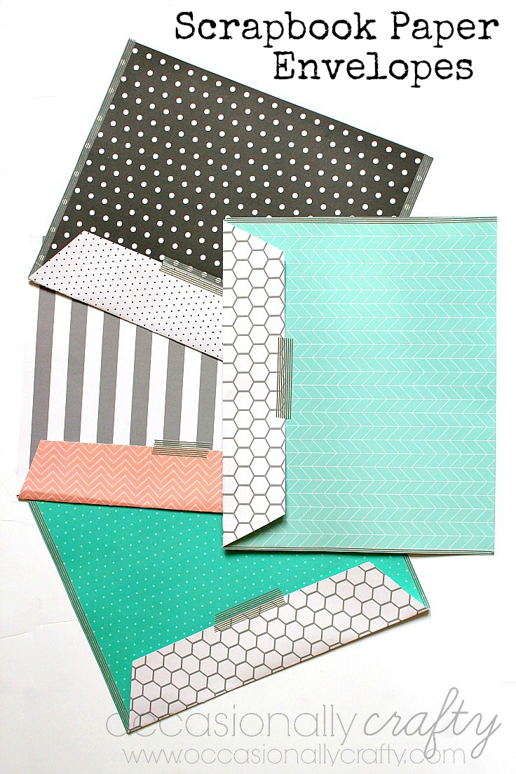 These scrapbook paper and washi tape envelopes are the perfect way to give photos or prints in a special way!