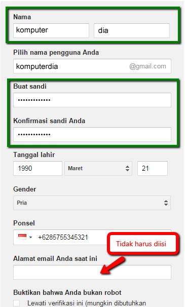 Cara Lengkap Membuat Akun Gmail Disertai Dengan Gambar