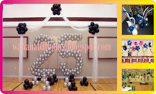 wahanaballoons menjual jasa aneka bentuk dekorasi balon