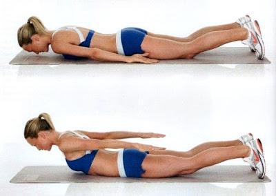Dorsales ejercicio mujer rutina