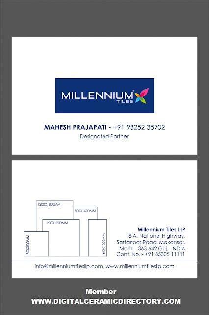 MILLENNIUM TILES LLP MAHESH PRAJAPATI 9825235702 MORBI CERAMIC TILES