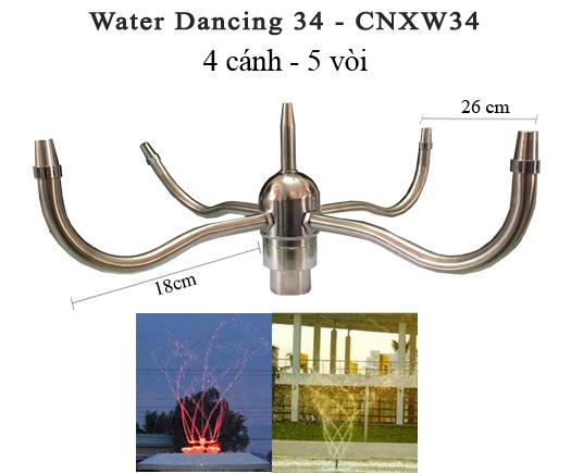 đầu phun nước water dancing 34