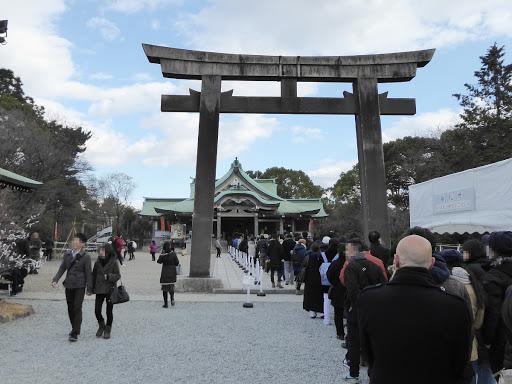 豊國神社の初詣
