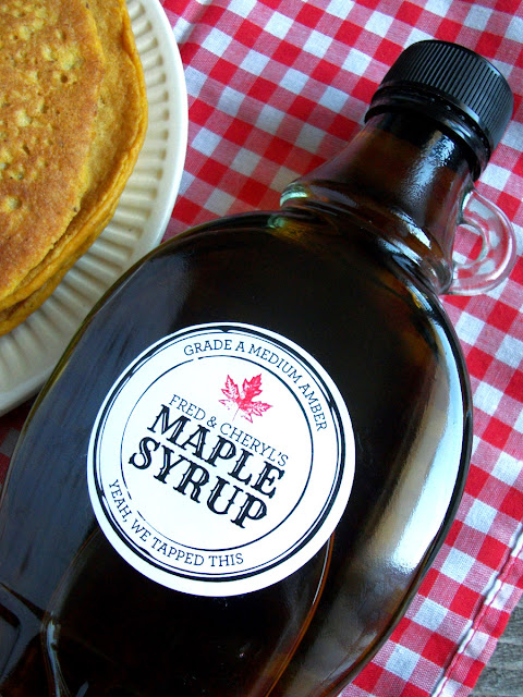 Black Seal Custom maple syrup labels