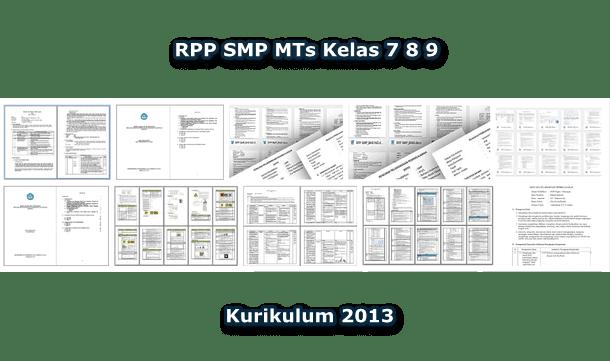 RPP SMP MTs Kelas 7 8 9 Kurikulum 2013