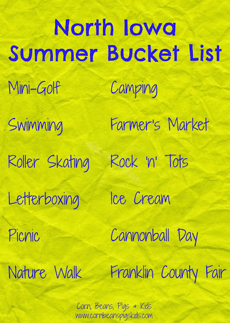 North Iowa Family Summer Bucket List