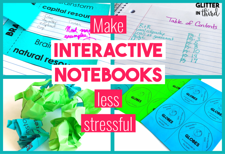 blog post title of interactive notebook ideas