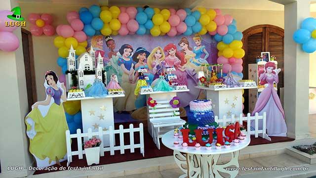 Decoração de aniversário tema Princesas Disney - Provençal Simples
