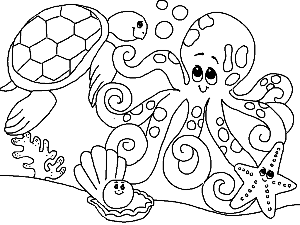 coloring picture of animals for kids. Black Bedroom Furniture Sets. Home Design Ideas