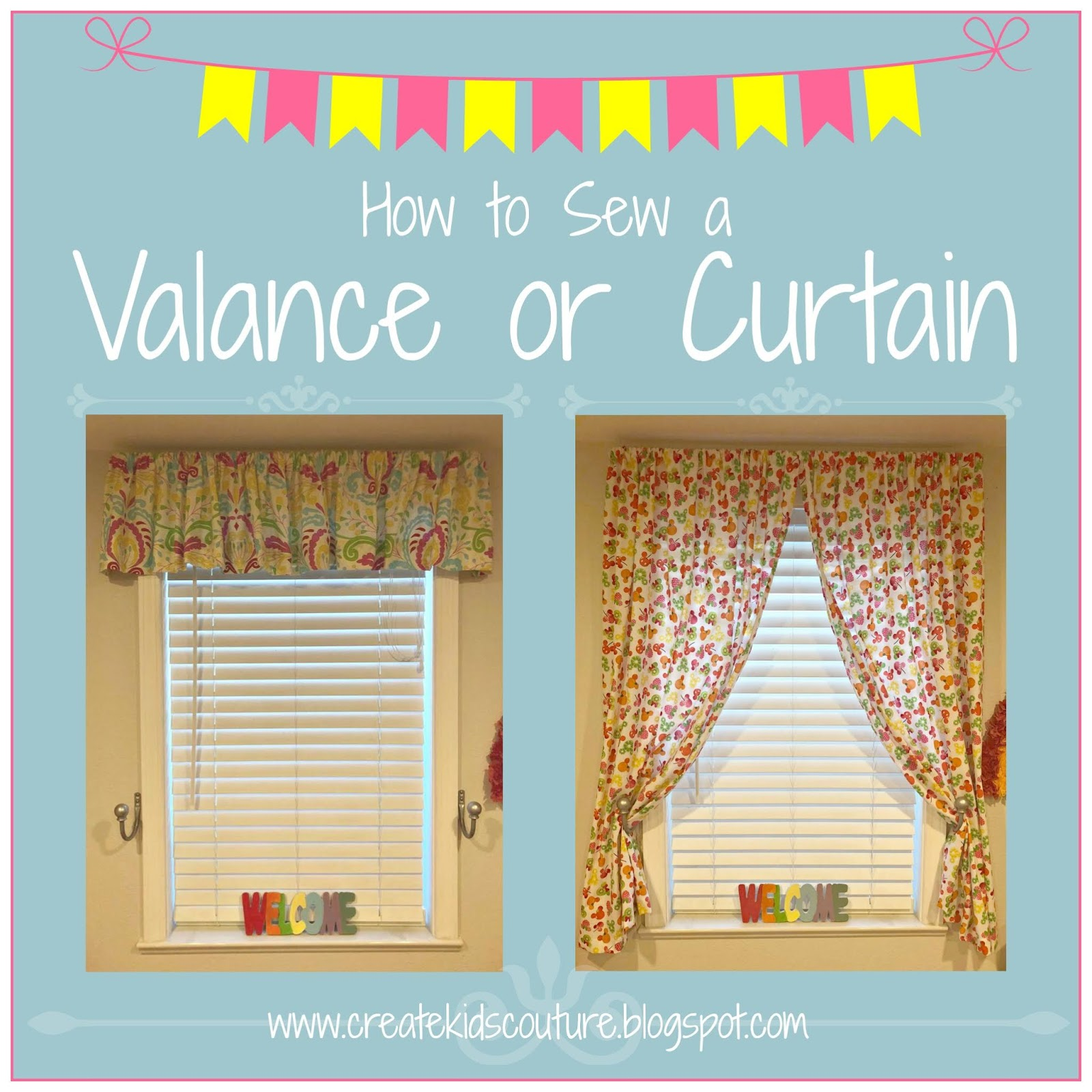 how to sew a valance or curtain