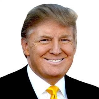 Foto de Donald Trump sonriendo