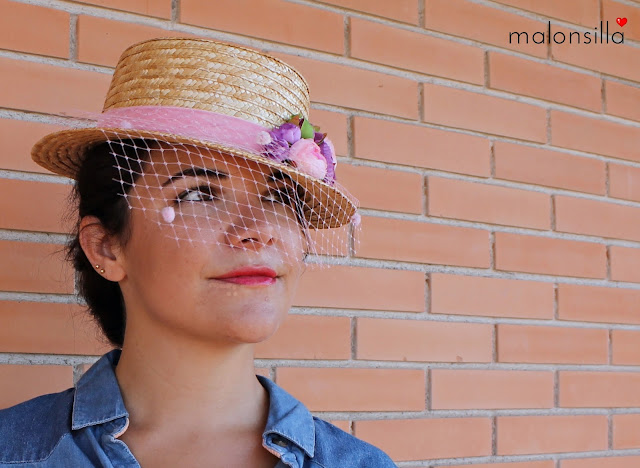 Sombrero / Tocado que  puesto luce espectacular.