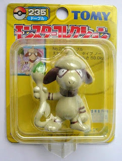 Smeargle Pokemon figure Tomy Monster Collection yellow package series