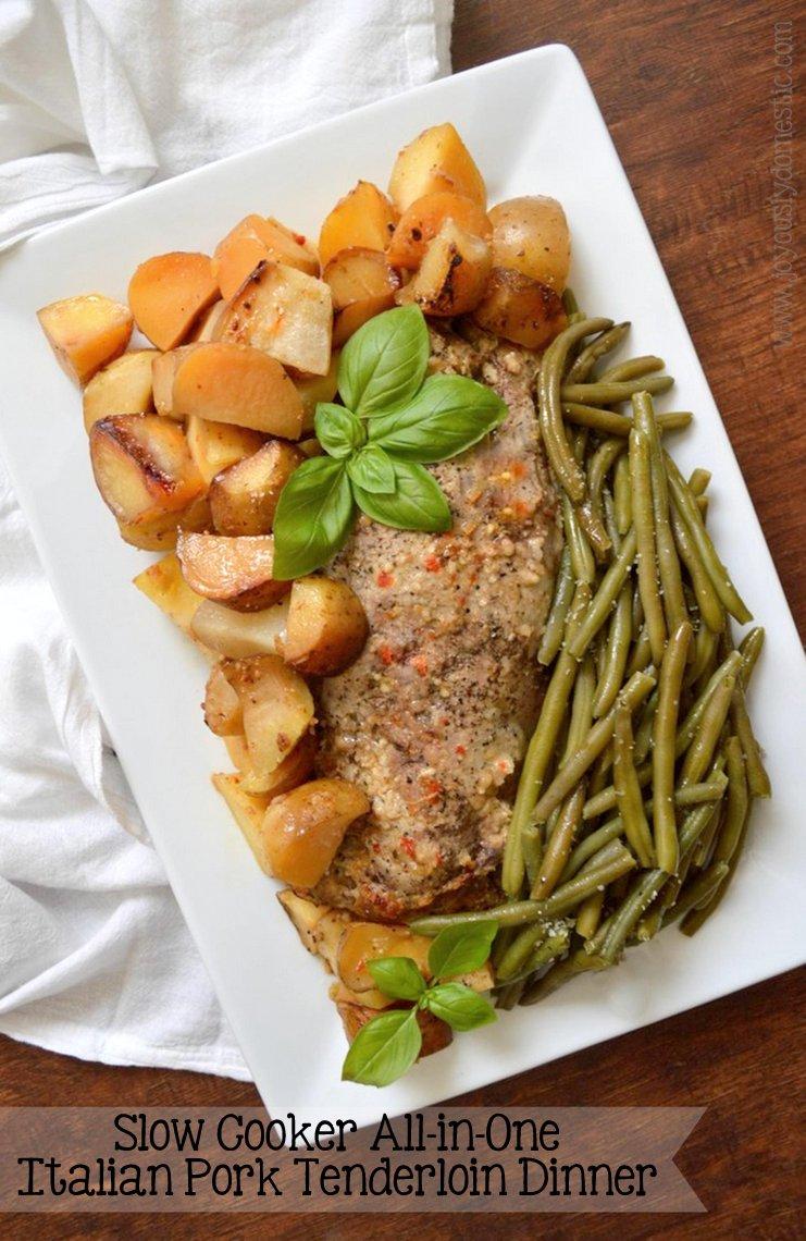 Joyously domestic slow cooker all in one italian pork for Italian dinner