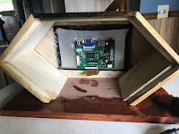 Driver board attached to the back of the screen