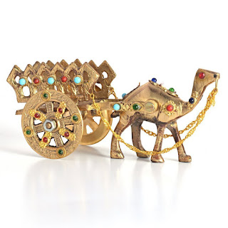Handicrafts Gemstone Studded Pure Brass Camel  alooflook.com