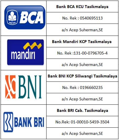 Daftar Rekening Untuk Pembayaran