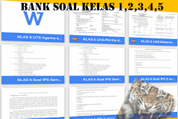 Download Bank Soal UKK Kelas 1,2,3,4,5 SD Format Words