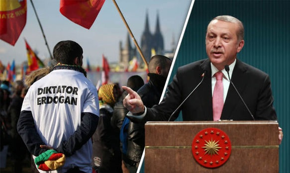 30,000 Kurds protest against Erdogan in Germany
