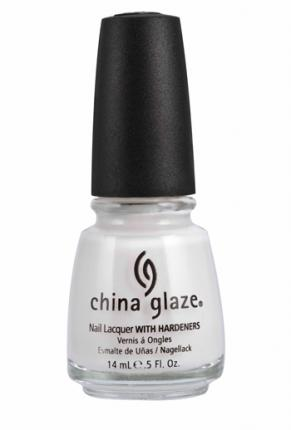 For a sheer white try: China Glaze Moonlight