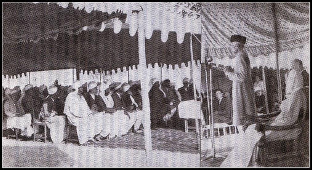 Quaid-e-Azam Muhammad Ali Jinnah Speech Picture In Jalsa