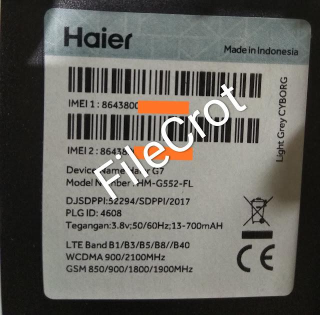 Firmware Haier G7 HM-G552-FL