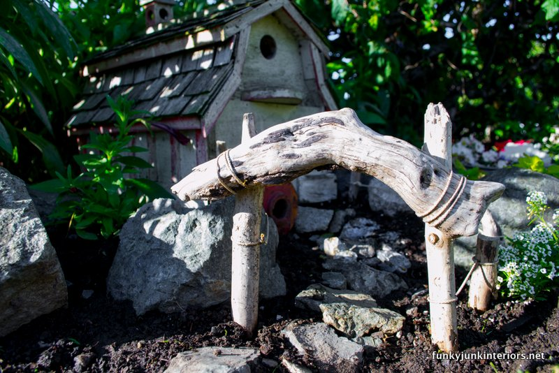Driftwood Fence In Fairy Garden