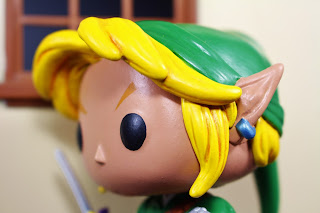 Custom funko Pop Link from Legend of Zelda by Hunter Knight Customs