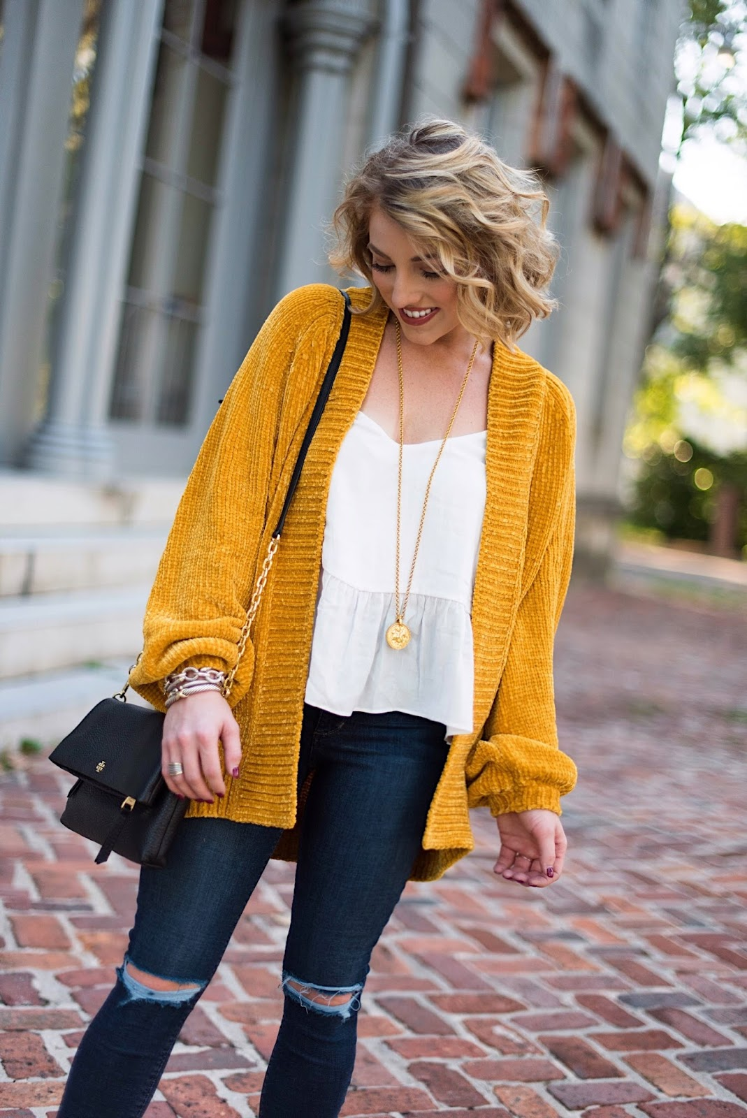 Chenille Cardigan for Fall - Something Delightful Blog