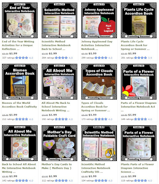 best selling interactive notebooks activities craftivity
