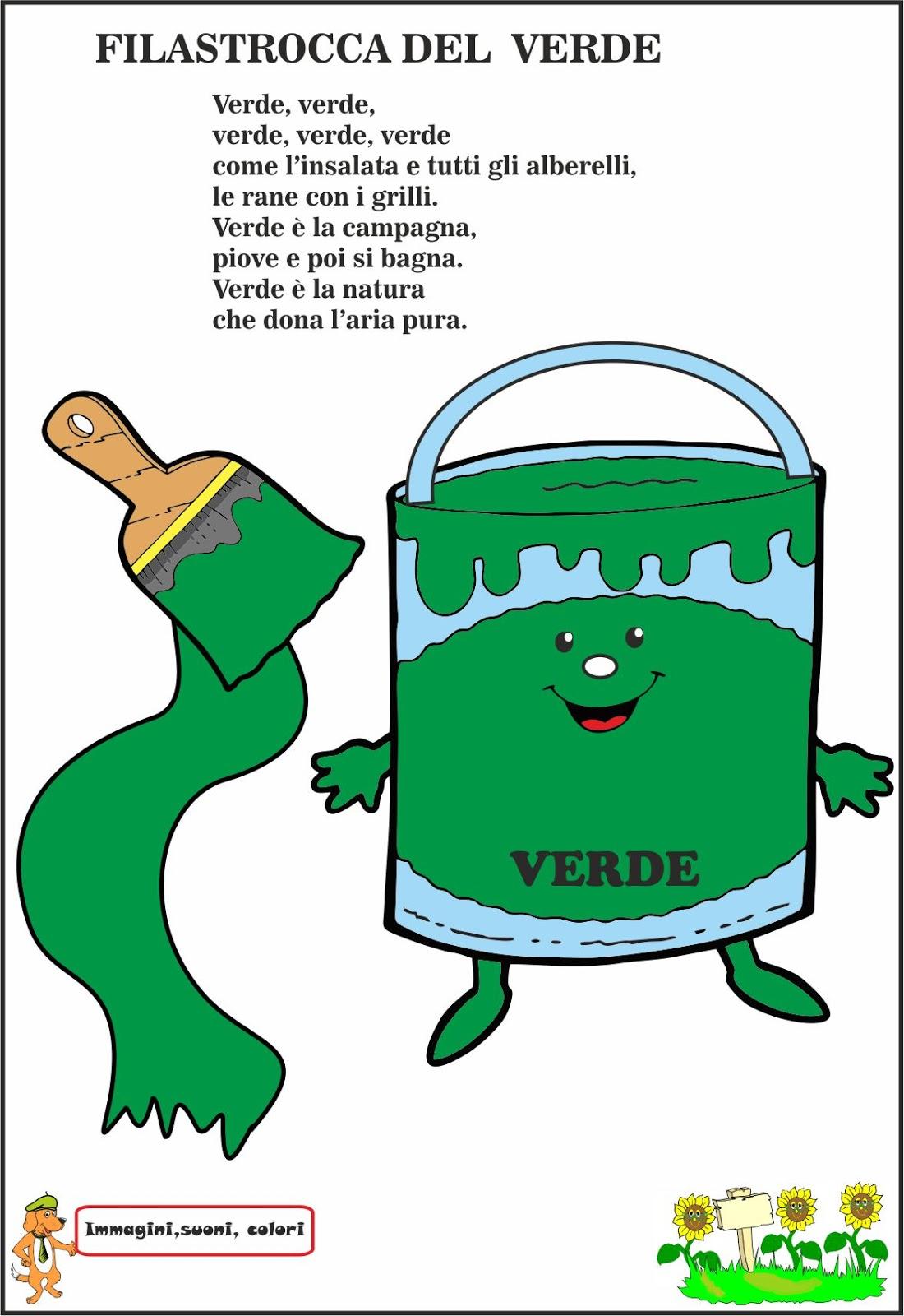 A Scuola Con Poldo Scopriamo I Colori Il Verde