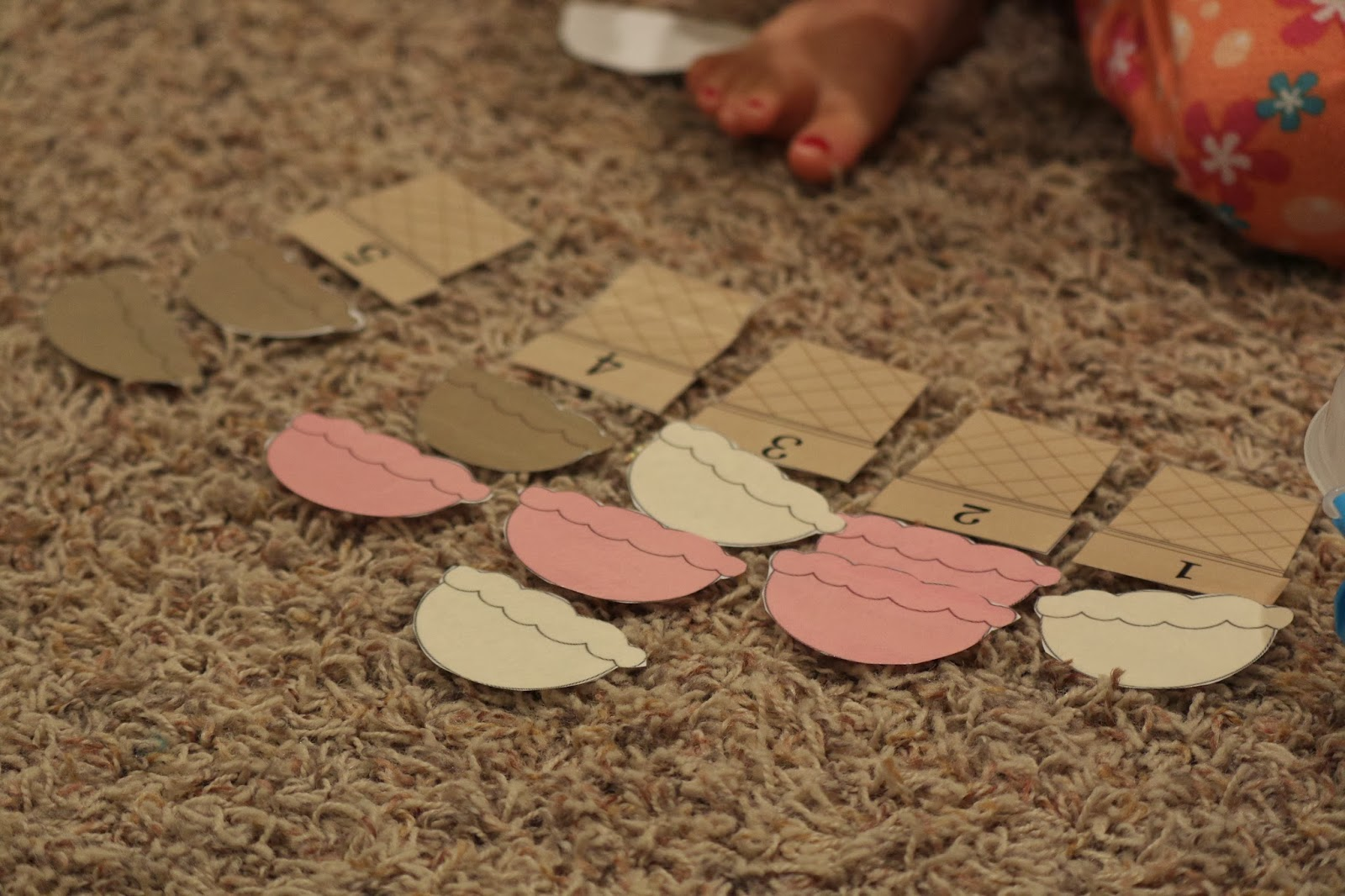 ice cream scoops toddler math printable