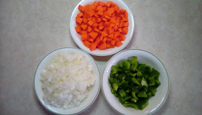 Photo of diced veggies