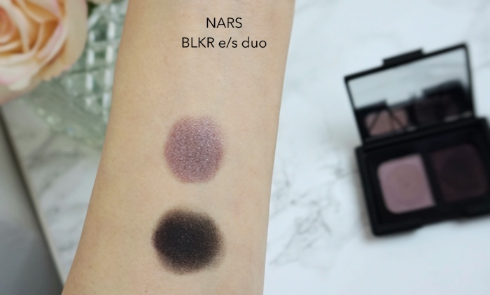 NARS BLKR eyeshadow duo swatch review