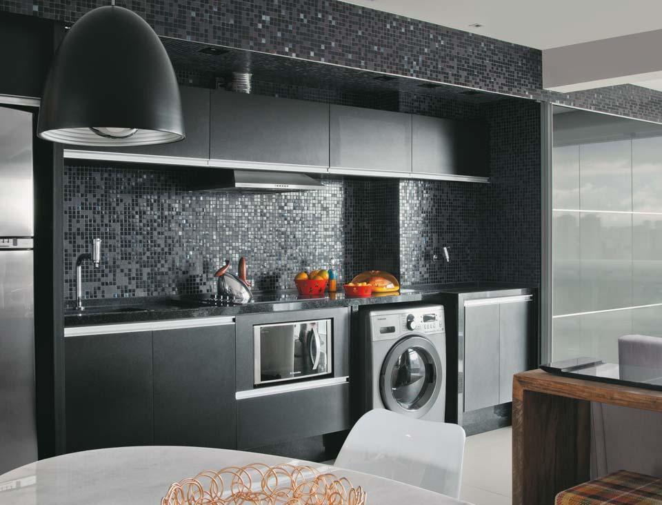 Blog luz design apartamento integrado cozinha oculta for Modelo de cocina integrado