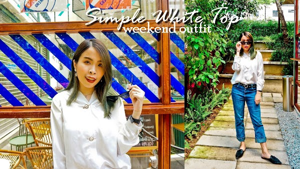 White Shirt Weekend Outfit #85
