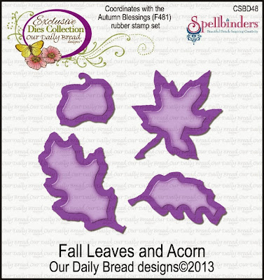 Our Daily Bread Designs Custom Fall Leaves and Acorn Die