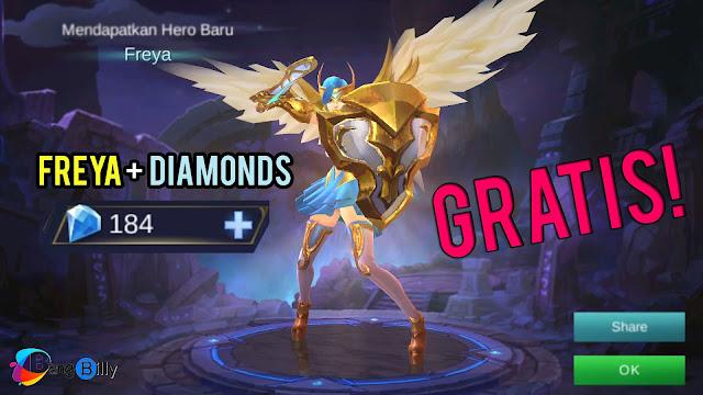 Trik Dapet Diamonds dan Freya Gratis di Mobile Legends Versi BangBil