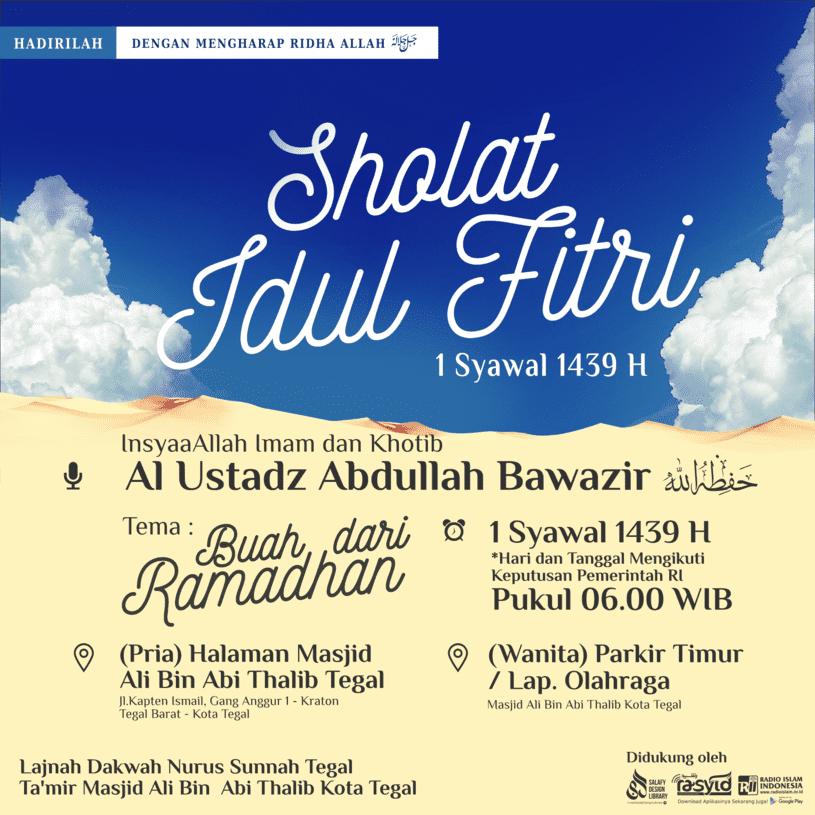 Shalat Idul Fitri 1439 H / 2018 M Kota Tegal